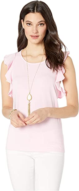 ff810841c9e4e8 Lilly pulitzer michele v neck top hotty pink | Shipped Free at Zappos