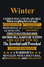 Winter Completely Unexplainable Girl First Name: Lined Notebook / Journal Gift, 120 Pages, 6 x 9 inches, Winter Family Gif...