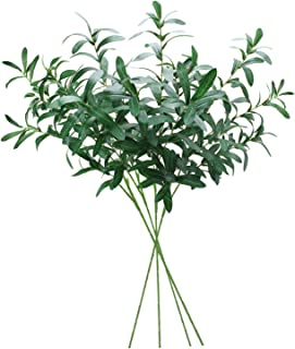 Sunm boutique 4 Pcs Artificial Artificial olive branch Greenery Leaves Garland for Wedding Party Garden Wall Decoration