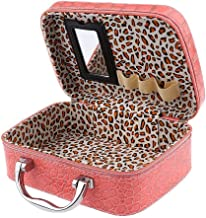 FreShine Latest Stylish Makeup Box for Women | Cosmetic Storage Boxes | Jewellery Organizer |Travel Toiletry Bag with Compact Magnifying Mirror for Travel (Multi-Colour)