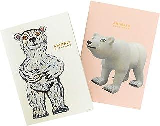 グリーティングライフ A5ノート 2冊セット 三沢厚彦 ANIMALS シロクマ シロクマD WAN-2-AM52/53