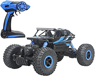 Hugine 2.4Ghz 1/18 Scale RC Rock Crawler Vehicle Toy 4 WD Fast Race Monster Off-Road Truck (Blue) …