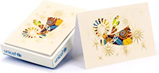 Hallmark UNICEF Boxed Christmas Cards, Shining Angel Blessing (12 Cards and 13 Envelopes)
