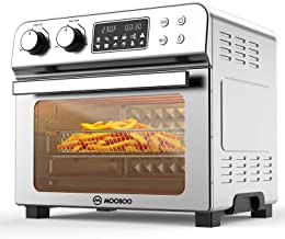 MOOSOO 12-in-1 Air Fryer Convection Oven, 24 Quart Ultra Large Capacity Toaster Oven, 1700W, LED Display Rotisserie Oven w...