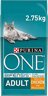 Purina ONE Kattenvoer, Adult kattenbrokken met Kip; 2,75kg - doos van 4 (4 zakken; 11kg)