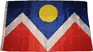 ALBATROS 3 ft x 5 ft City of Denver Colorado Premium Quality Flag Banner Grommets for Home and Parades, Official Party, All Weather Indoors Outdoors