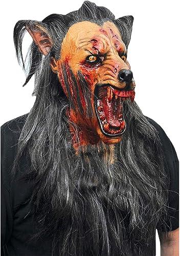 Masque de loup terrifiant adulte