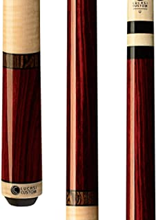 Lucasi Custom Rengas and Curly Maple Pool Cue with Bocote Banded Rings