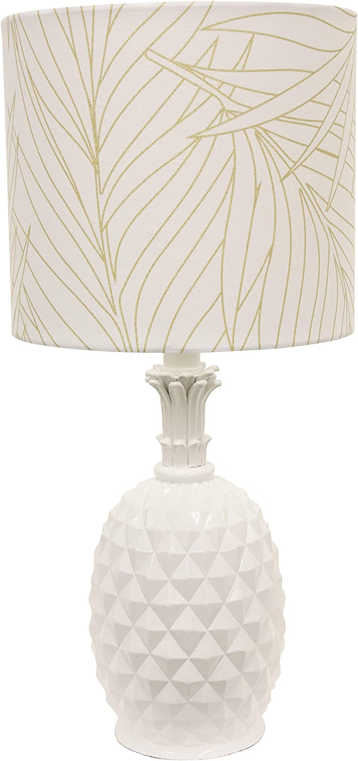 Décor Therapy TL17212 lamp New popularity White online shopping Table
