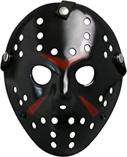 CASACLAUSI Jason Mask Halloween Costume Prop Horror Hockey Cosplay Party Adult Black