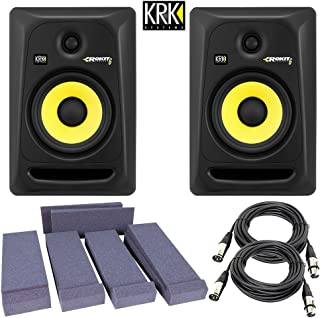 KRK RP6G3-NA Rokit 6 Generation 3 Powered Studio Monitor + Free Talent Insolation PAD and PSC XLR Cables
