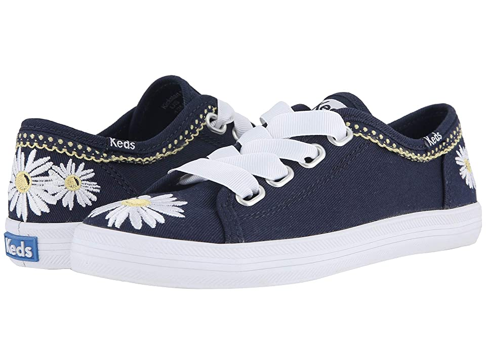 Keds Kids Kickstart Seasonal (Little Kid/Big Kid) (Navy Daisy) Girl