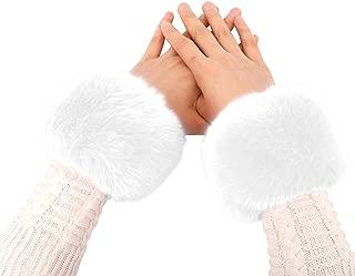 Simplicity Women's Winter Faux Fur Short Wrist Cuff Warmers