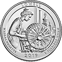 2019 P, D Lowell National Historical Park, MA National Park Quarter Singles - 2 Coin Set Uncirculated