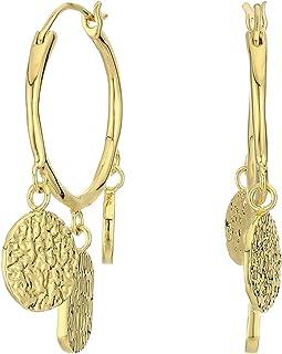 Banks Coin Hoops Earrings