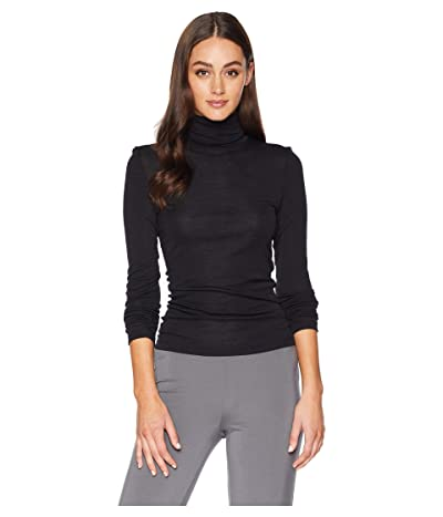 Hanro Woolen Silk Turtleneck Shirt (Black) Women