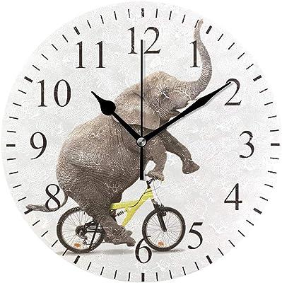 Jacque Dusk Reloj De Pared De Bicicleta De Montar En Elefante ...