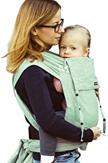 DIDYMOS DidyKlick Soft Structured Baby Carrier Jade (Organic Cotton), Jade Green/Natural White, One Size