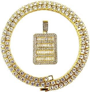 Best diamond tennis necklace gold Reviews