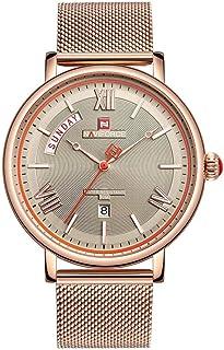 Reloj de Cuarzo analógico de Acero Inoxidable japonés para Hombre con Correa de Acero Inoxidable
