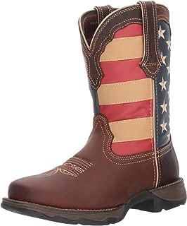 Durango Women's Lady Rebel Patriotic Flag Work Boot Steel Toe