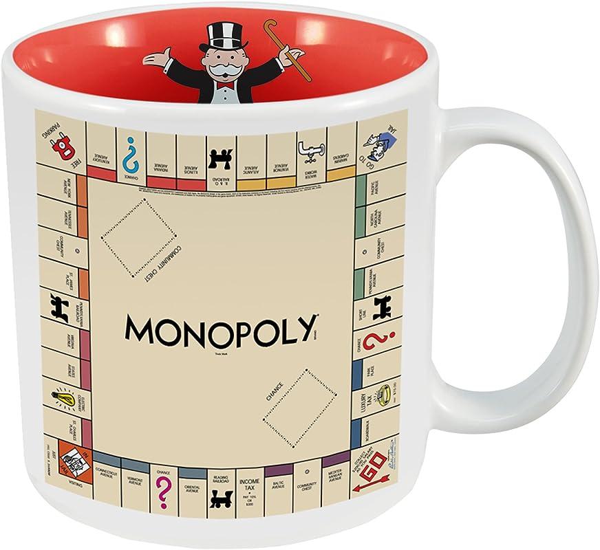 Vandor 43261 Hasbro Monopoly 20 Oz Ceramic Mug Multicolor