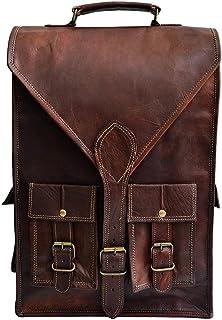 """Jaald Convertible Leather 15.6"""" Laptop Bag Backpack Messenger Bag Office Briefcase Vintage Satchel"""