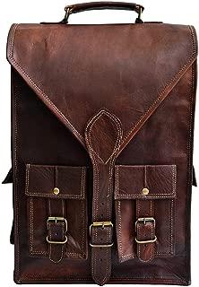 """Jaald convertible leather 15.6"""" laptop bag backpack messenger bag satchel briefcase"""