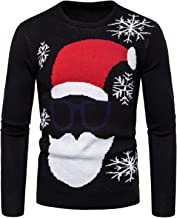 Soluo Men's Ugly Christmas Sweater Santa Funny Crewneck Cute Pullover Jumpers Tunic coat tops