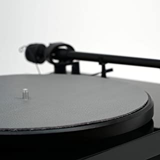 Premium Swiss Leather Turntable Mat   Charcoal   Slipmat Made in USA
