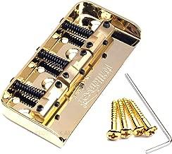 NEW Wilkinson WTBS Short Bridge Brass Saddles for Tele Telecaster Style Guitar (Gold)