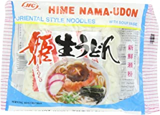 Hime Fresh Udon Noodles with Soup Base, 6.94-Ounce (Pack of 30)