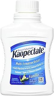 Kaopectate Multi-Symptom Relief Anti-Diarrheal/Upset Stomach Reliever Liquid, Vanilla, 8 Fl Oz, Pack of 3
