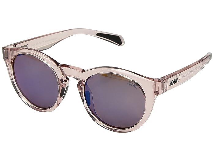 Zeal Optics  Crowley (Desert Rose/Polarized Horizon Blue Lens) Athletic Performance Sport Sunglasses