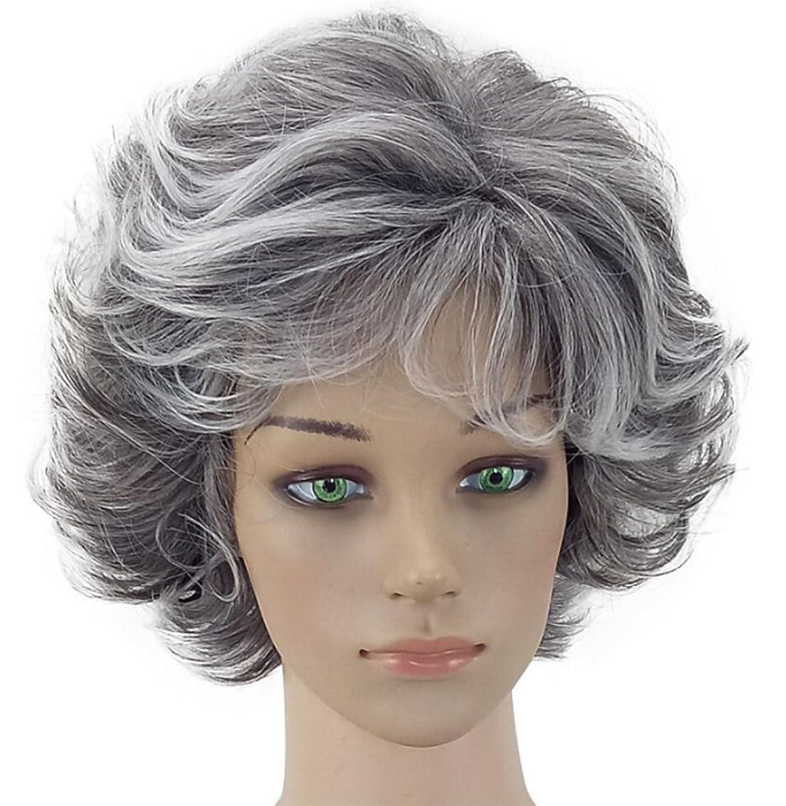 黒人寝る系譜女性のためのウィッググレーカーリーナチュラル耐熱とフルウィービングウィッグ高品質のヘアピースのコスプレ