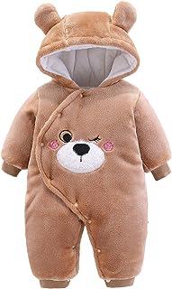 Borlai noworodka śpioszki chłopcy dziewczęta kombinezon zima kreskówka zwierzę piżama na 0-12 m