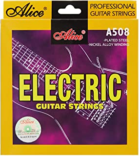 6PCS Alice Electric Guitar Strings 0.09-.042 Super Light String Plated Nickel Alloy Wound A508-SL