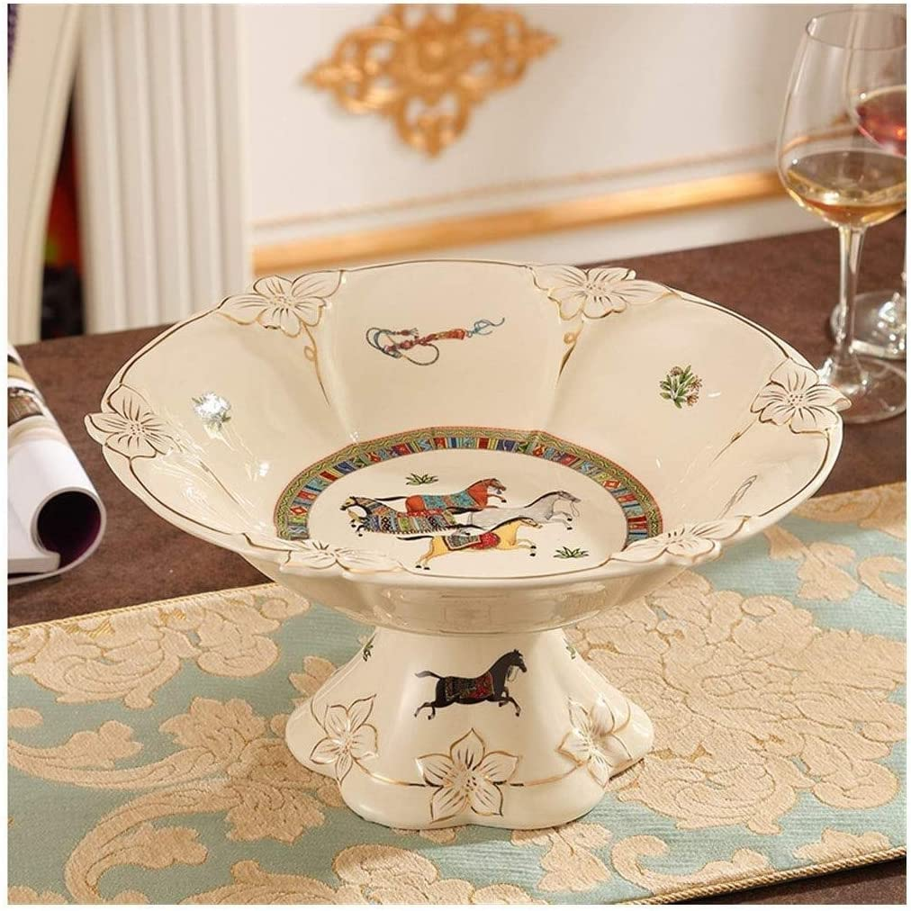 Fruit Tray European Ceramic Plate Coffee Living Super beauty product restock Ranking TOP8 quality top High Room