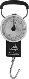 Sherrpa Travel Luggage Manual Scale, Suitcase Weighting Scale 75 lb / 32 kg (Charcoal/White)