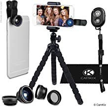 Smartphone Photography Kit - Flexible Cell Phone Tripod, Bluetooth Remote Control Camera Shutter and 5in1 Lens Kit - Unive...
