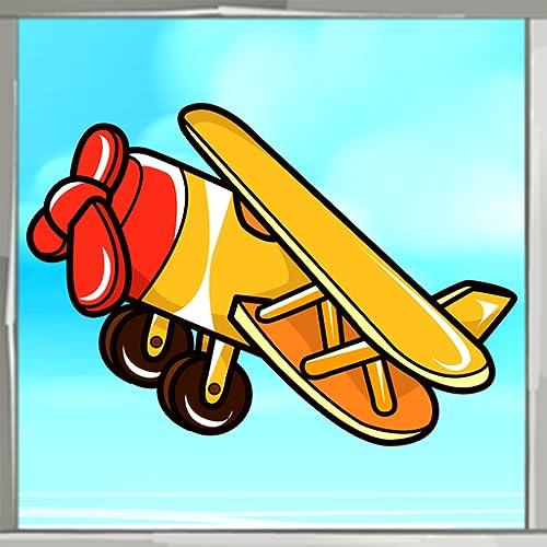 Libro de colorear de avión