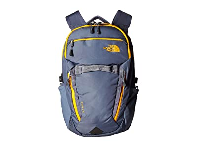 The North Face Surge Backpack (Grisaille Grey/Zinnia Orange) Backpack Bags