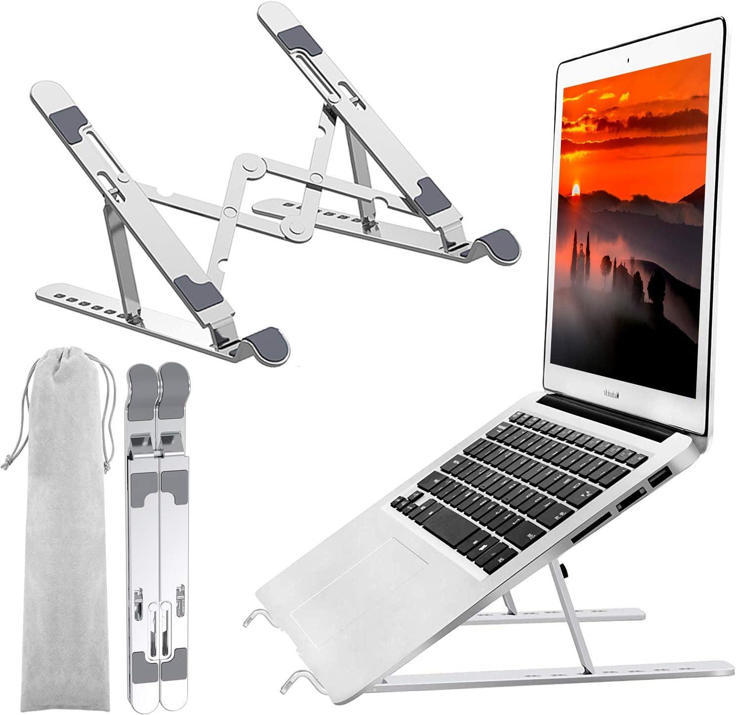 Oceanteda Laptop Max Atlanta Mall 65% OFF Stand Aluminum Adjustable Foldabl