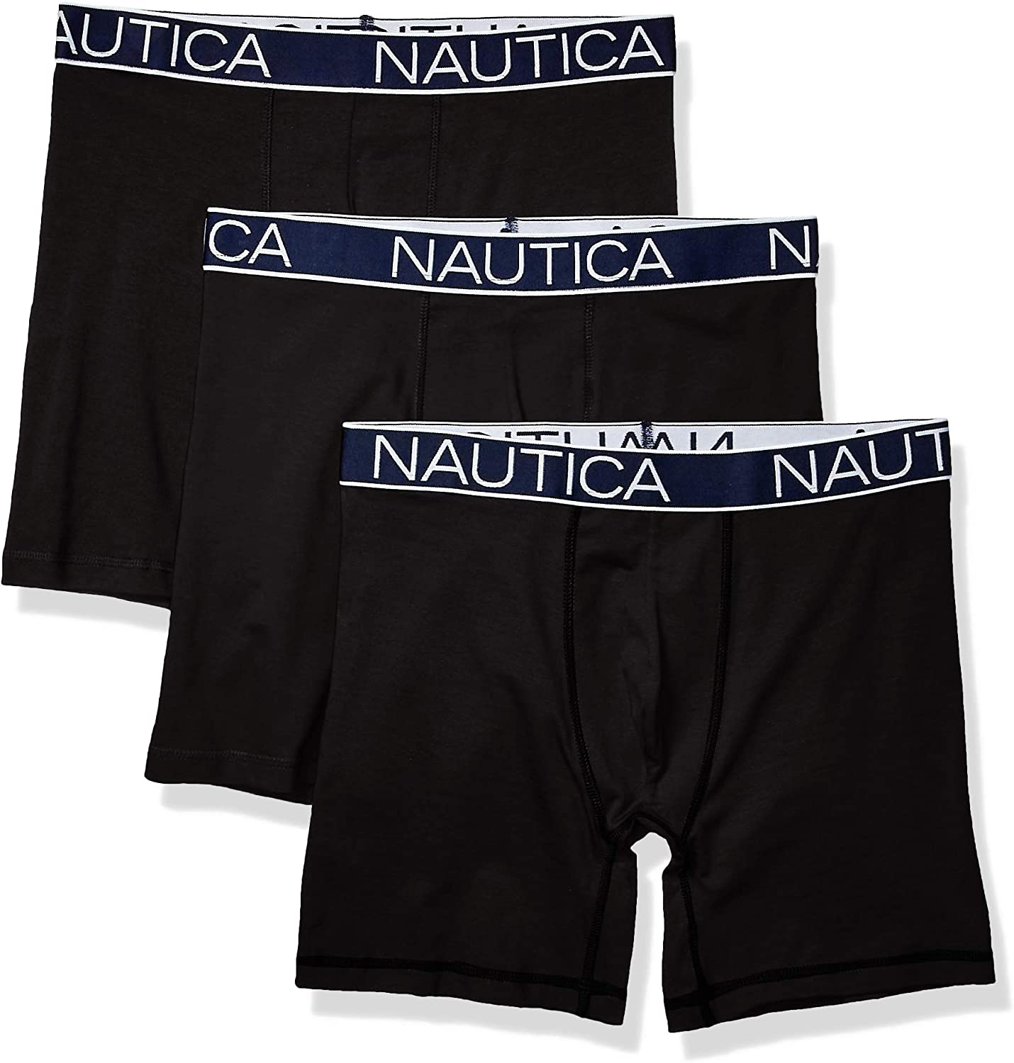 Nautica All stores are ! Super beauty product restock quality top! sold Men's 3-Pack Classic Underwear Cotton Stretch Brie Boxer
