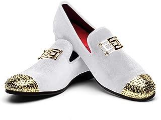Men's Loafers Velvet Shoes Metal Eagle Buckle Wedding Party Smoking Slipper Dress Loafers Shoes for Men