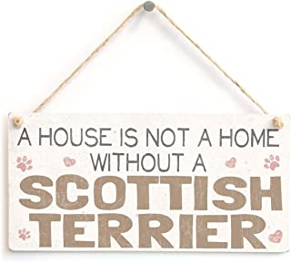 Meijiafei A House is Not A Home Without A Scottish Terrier - Sweet Vintage PVC Dog Sign/Plaque 10