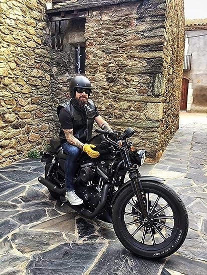 Black Tab Motorrad Lederweste Schwarz Soa Sons Of Anarchy Style Usa Büffelleder S 91cm Auto