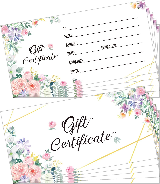 Set of 50 Floral Blank Certificates for Japan's 2021 model largest assortment Cu Business Client Cards