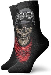 yting, Calcetines deportivos para hombre y mujer Calcetines divertidos con calavera Astronauta Calcetines divertidos de poliéster 30cm