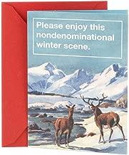 Hallmark Shoebox Funny Christmas Card (Non-denominational Winter Scene)